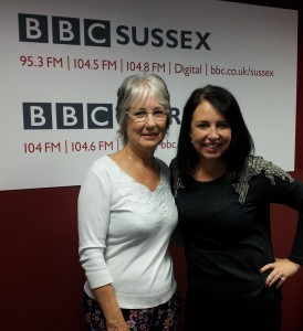 Dee at BBC Sussex with Allison Ferns (2)